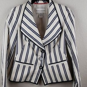 Doncaster | Women's Stripe Seersucker Blazer S 4